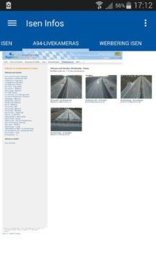 A94 Live-Kameras aus der Verkehrsüberwachung