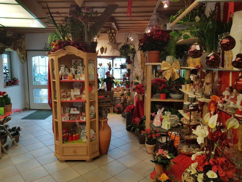 Der Laden von Blumen Elisabeth in Mittbach bei Isen