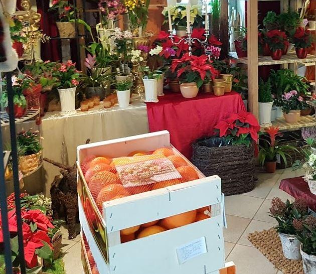 Die berühmten Orangenkisten von Blumen Elisabeth. Eine besondere Winterspezialität in Isen Mittbach.