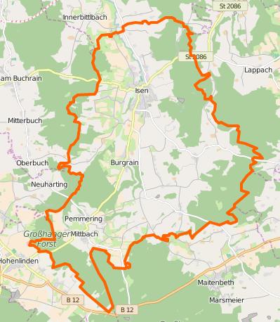 Ortsteile von Isen