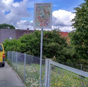 Radweg-Autoparkplatz Henry Dinger Isen