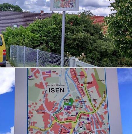 Radweg-Parkplatz-Isen