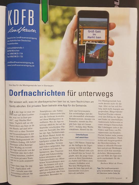 Katholischer-Frauenbund-Zeitschrift-200.000-Auflage-Bericht-Isen-App