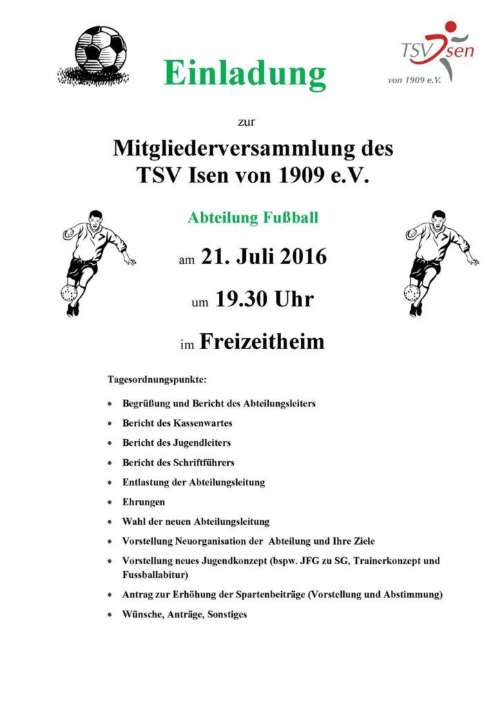 TSV-Isen-Fußball-Abteilungsversammlung