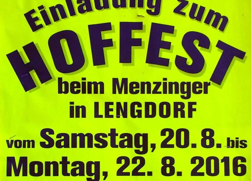 Hoffest beim Menzinger in Lengdorf