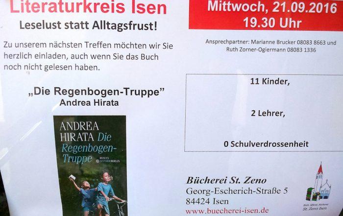 """Literaturkreis Isen bespricht """"Die Regenbogentruppe"""""""