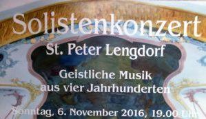 Solistenkonzert: Geistliche Musik aus vier Jahrhunderten