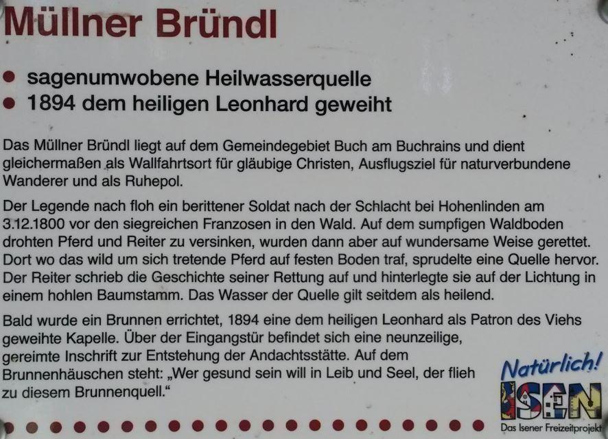 Müllner Bründl Hinweisschild