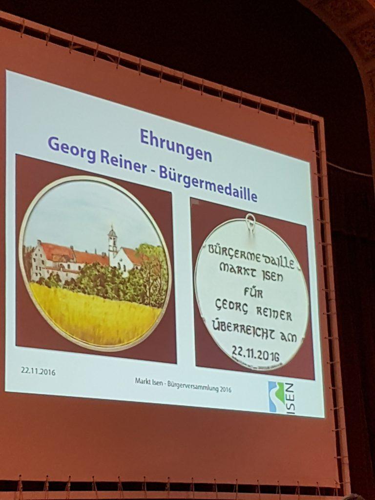 Bürgermedaille für Georg Rainer