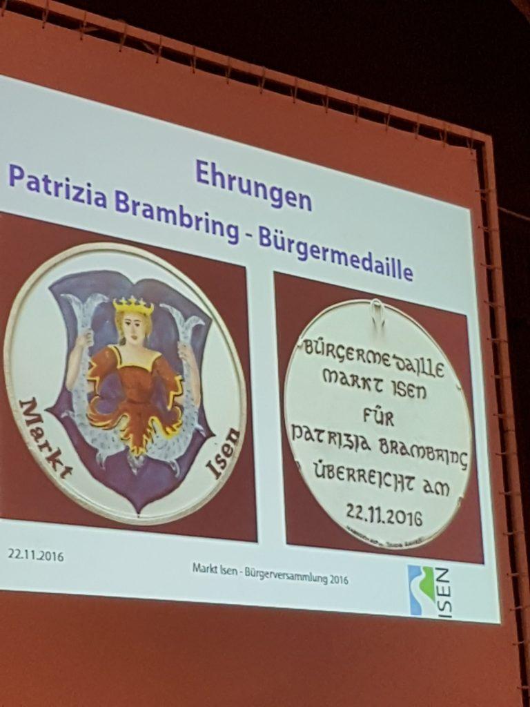 Bürgermedaille für Patrizia Brambring