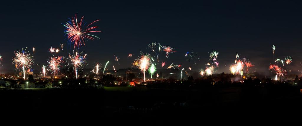 Feuerwerk Isen - Foto Marika Hiermann
