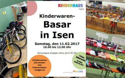 Kinderwarenbasar Isen: Schnell noch Verkäuferliste sichern!