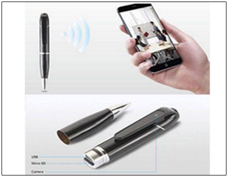In Deutschland verbotene Kugelschreiber-Kamera mit WLAN