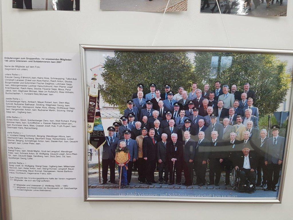 Foto zur 140 Jahrfeier der Veteranen aus Isen im Jahr 2007