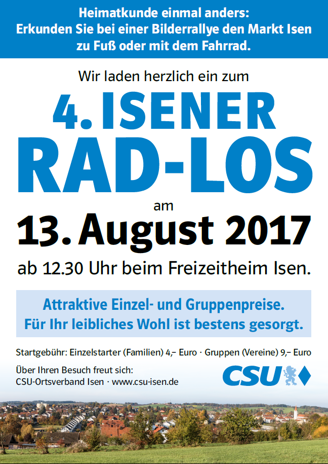 "CSU Rad-Rally in Isen ""Rad-Los"""