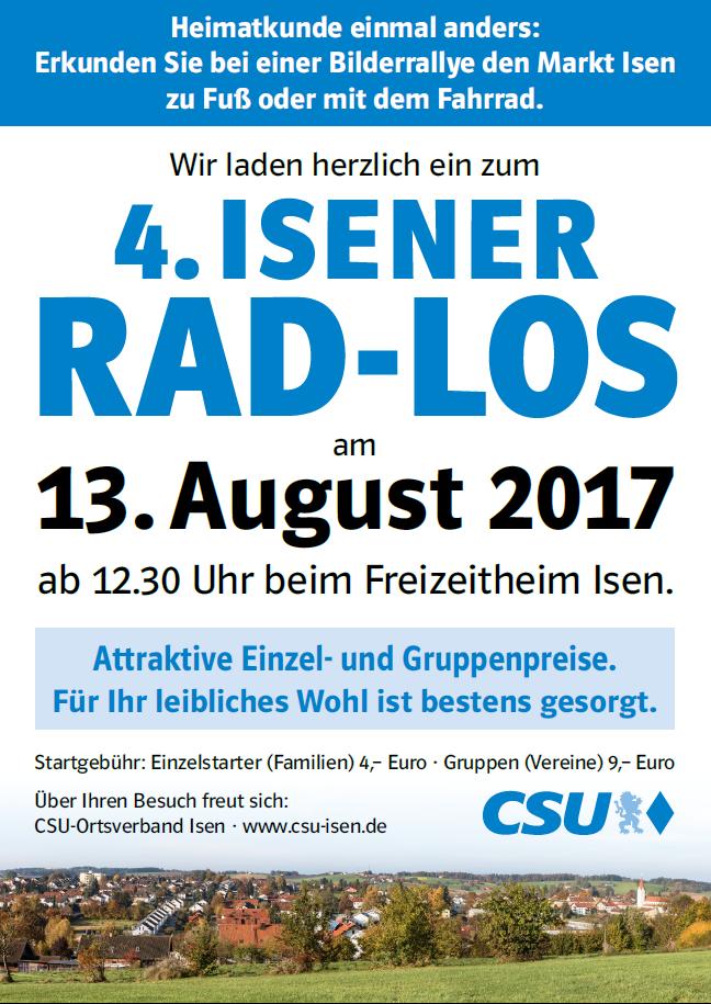 """CSU Rad-Rally in Isen """"Rad-Los"""""""