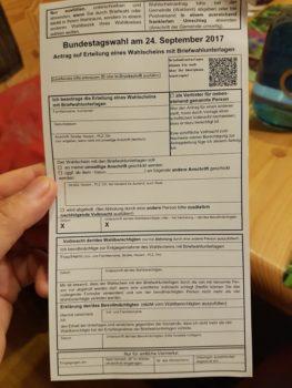 Neu: Briefwahl mit QR-Code beantragen zur Bundestagswahl