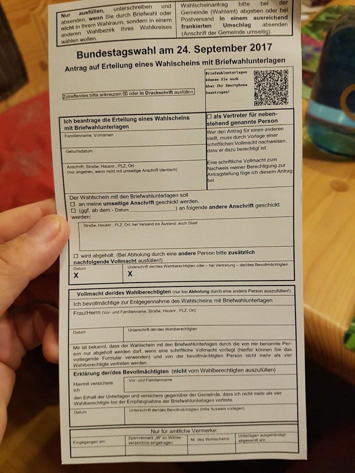Neu Briefwahl Mit Qr Code Beantragen Zur Bundestagswahl Iseninfosde
