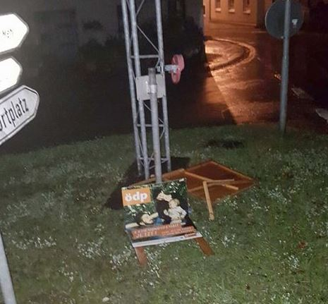 Plakate-Sattler-Kreuzung-ÖDP-zerstört