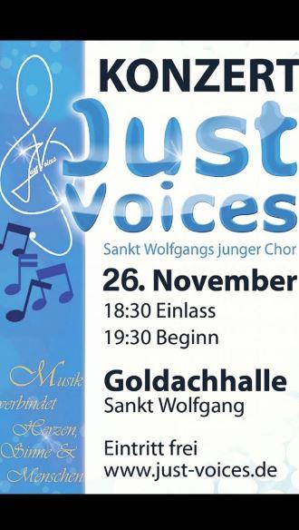 Just Voices Auftritt in Sankt Wolfgang