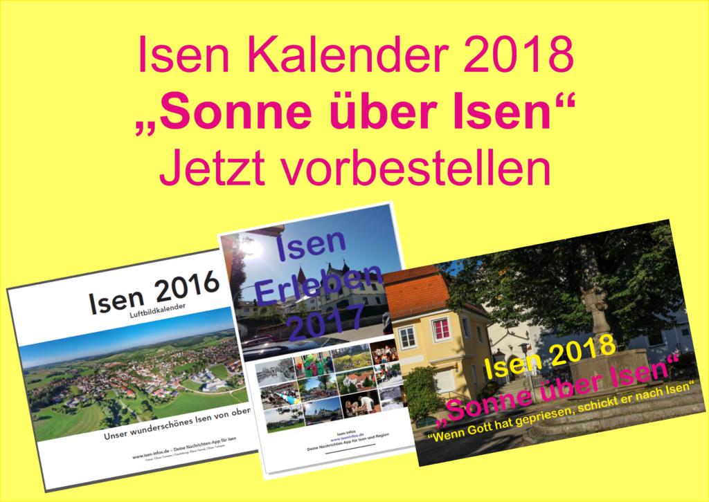 Isen Kalender 2018 jetzt vorbestellen