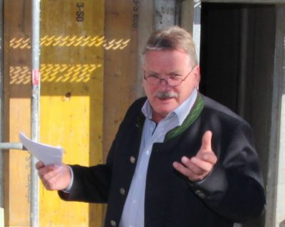 1. Bürgermeister Siegfried Fischer aus Isen, Foto Henry Dinger