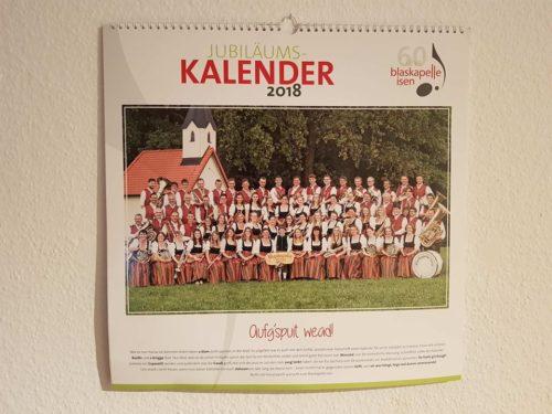Blaskapelle Isen Kalender 2018