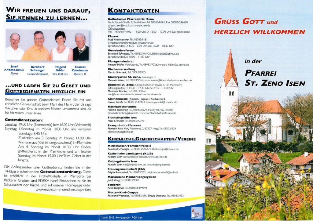 Übersicht Pfarrgemeinde Isen