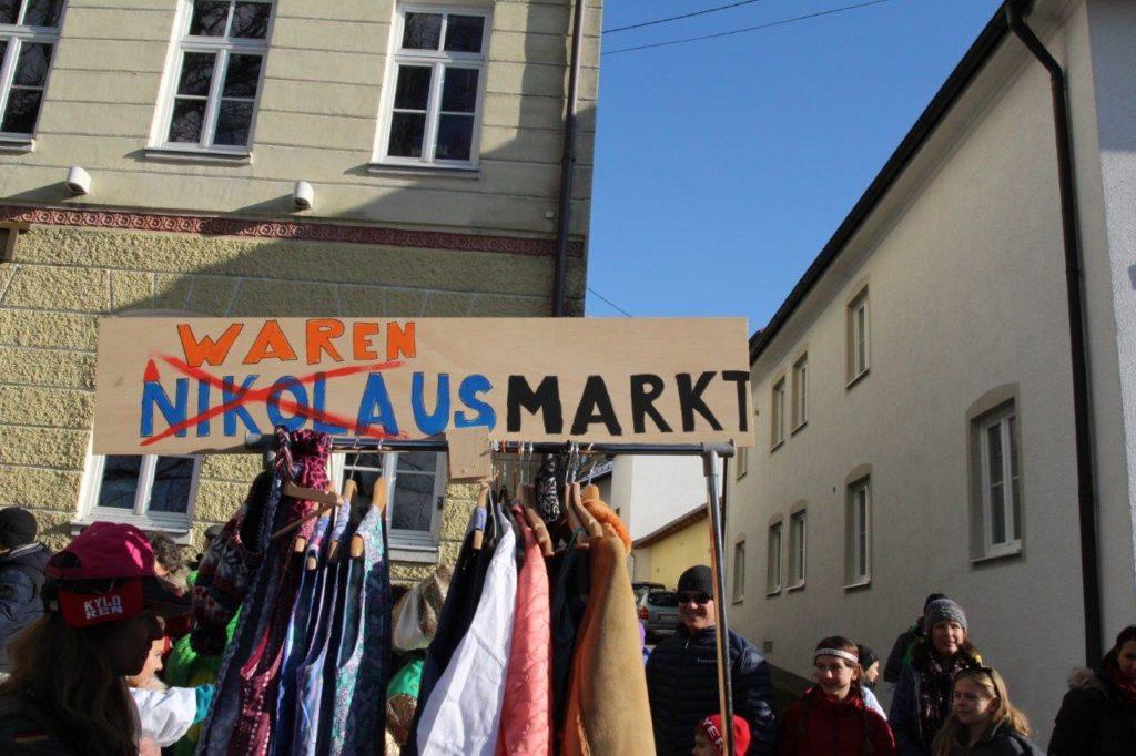 Vermutlich muss der Nikolausmarkt umbenannt werden... Faschingszug Isen 2018