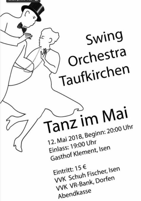 Tanz im Mai im Klement Saal Isen mit Swing Orchestra Taufkirchen