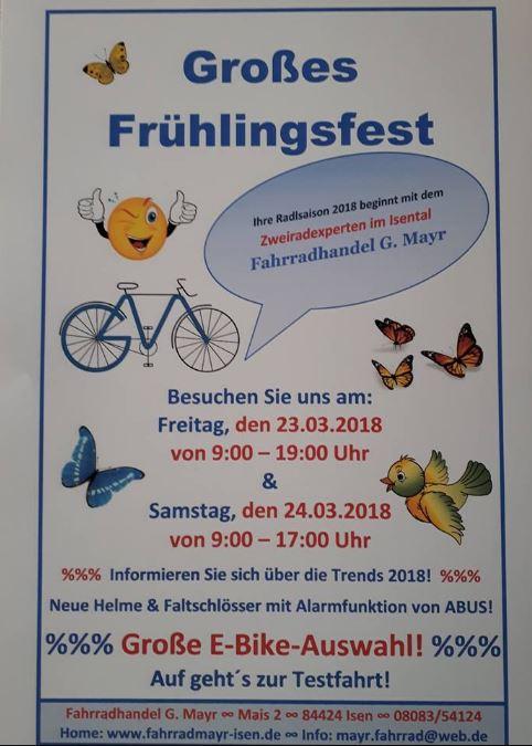 Frühlingsfest bei Fahrrad Mayr in Isen