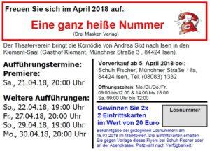 Theaterverein Isen: Hat Ihre Losnummer gewonnen?