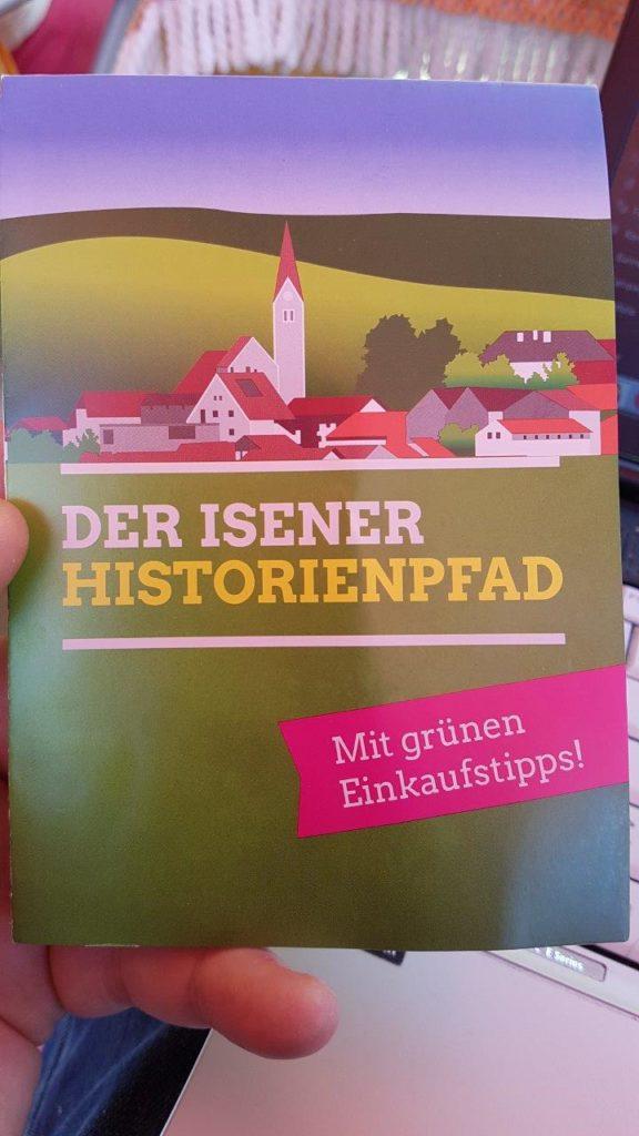 Extra eine Landkarte gab es zum Isener Historienpfad von den Isener Grünen auf dem Kreuzmarkt