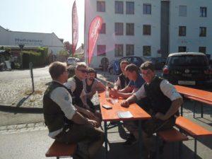 Vui Spaß hatten die Burschen vom Burschenverein Burgrain