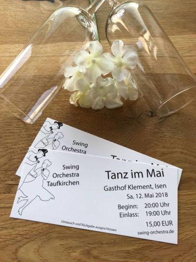 Tanz im Mai mit Swing Orchestra Taufkirchen im Klement Saal am Samstag, 12. Mai 2018