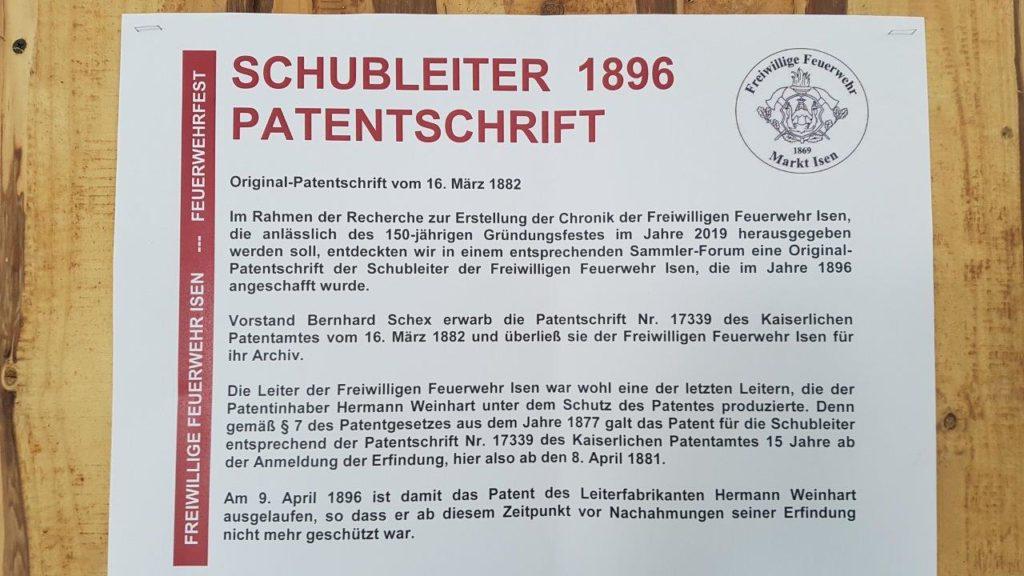 Hintergründe zur historischen Weinhart Schubleiter der Feuerwehr Isen