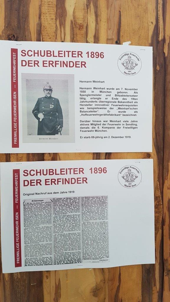 Erfinder Hermann Weinhart der damaligen Schubleiter der Feuerwehr Isen