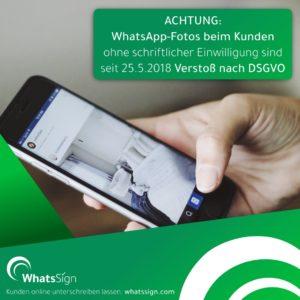 Neues Handwerkertool WhatsSign hilft bei der DSGVO
