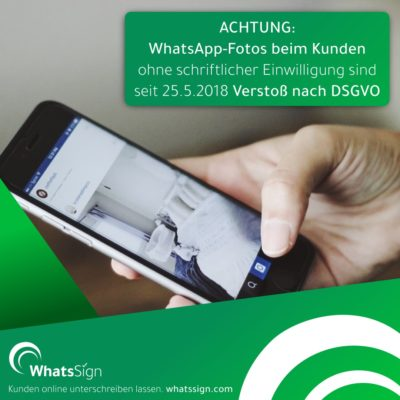 Neues Tool WhatsSign hilft bei der DSGVO