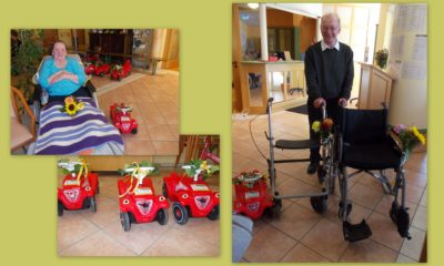 Bobbycar- und Rollstuhlsegnung in Isen