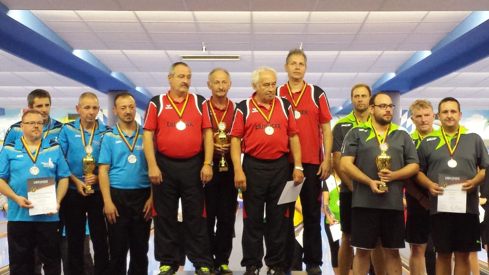 Siegerehrung Deutsche Meisterschaft im Kegeln 2018 - KC-Isen 1. Platz