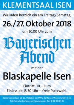 Kartenvorverkauf zum Bayerischen Abend in Isen
