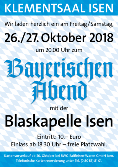 Blaskapelle Isen Bayerischer Abend