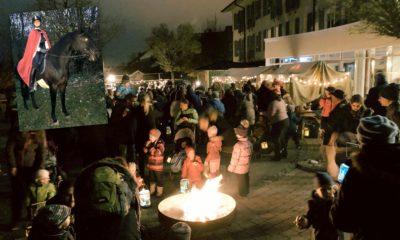 Kinderhaus-Kinder feiern schönes Martinsfest mit Lagerfeuer
