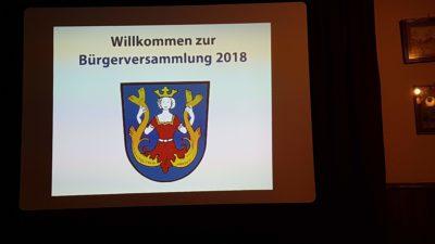 Bürgerversammlung Isen 2018