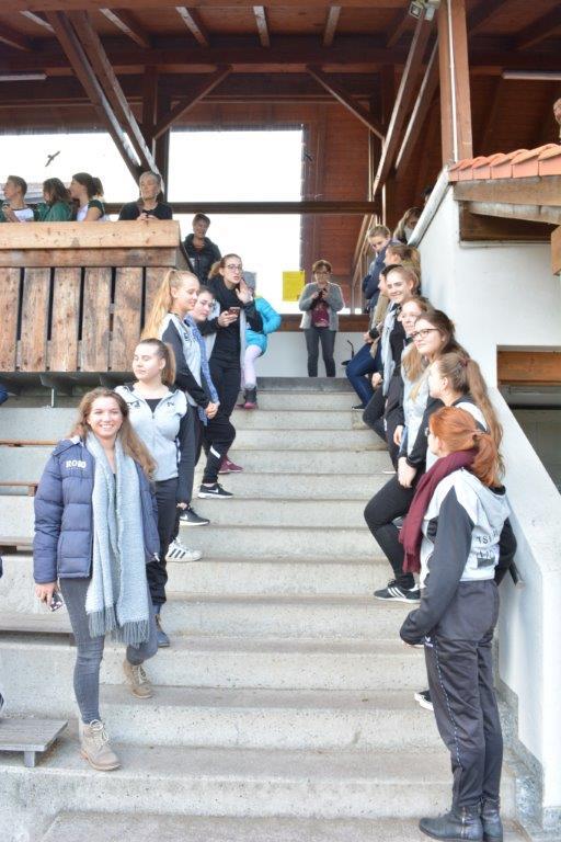 Spalier der Showtanzgruppe und Prinzengarde Modern Art in Sankt Wolfgang