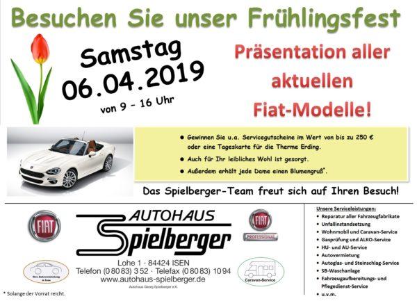 Frühlingsfest in Isen bei Fiat Spielberger am 6. April 2019