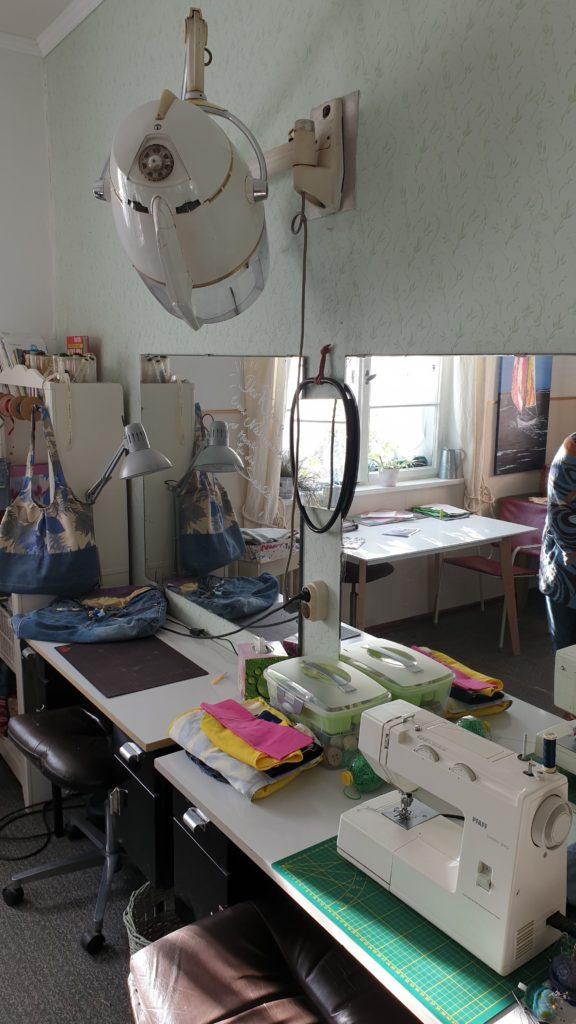 Der ehemalige Damenbereich ist nun Nähtreff im Atelier
