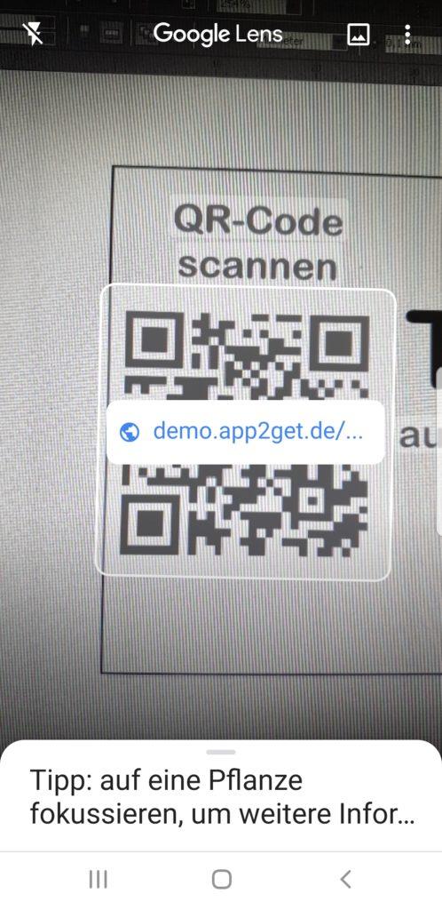 QR-Code-Scannen mit Google Assistent und Infos aufrufen