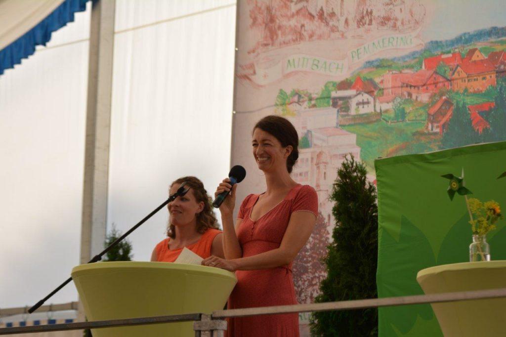 Ortsvorsitzende der Isener Grünen - Eva Haslbeck und Lena Geiger